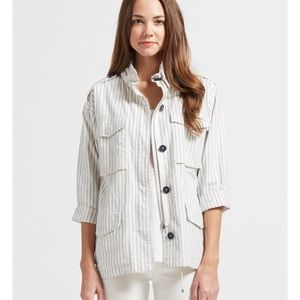 Joie striped light jacket NWT (missing Button)